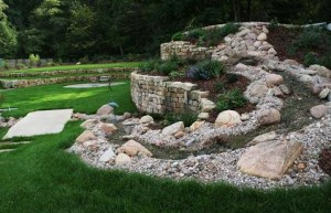 Pflanzspirale mit Anschluß zur Rasenfläche