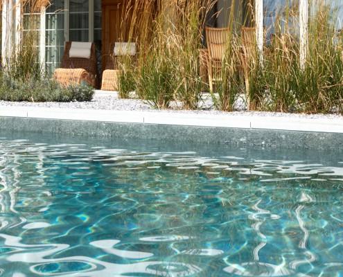 Reines Wasser im Biotop Living Pool