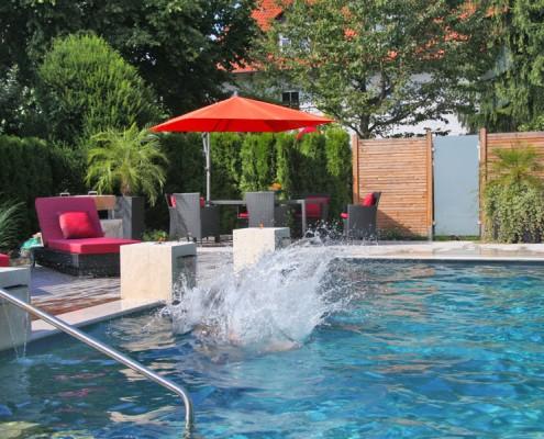 Der Biotop Living Pool mit klarem Wasser