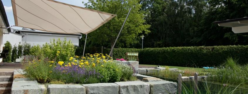 Sonnenschutz im Garten